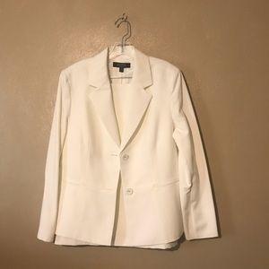Kasper skirt suit size 16, polyester off white